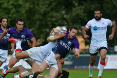 Match for place 3 Georgia vs Scotland in Rugby 7 Grand Prix Series in Moscow Stock Images