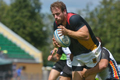 Match for place 11 Romania vs Germany in Rugby 7 Grand Prix Series in Moscow Royalty Free Stock Photo
