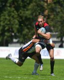 Match for place 11 Romania vs Germany in Rugby 7 Grand Prix Series in Moscow Royalty Free Stock Photos