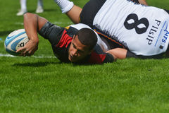 Match for place 11 Romania vs Germany in Rugby 7 Grand Prix Series in Moscow Royalty Free Stock Photography