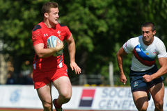 Match for place 5 Russia vs Wales in Rugby 7 Grand Prix Series in Moscow Stock Photo