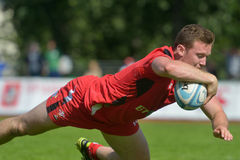 Match for place 5 Russia vs Wales in Rugby 7 Grand Prix Series in Moscow Royalty Free Stock Photo