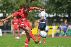 Match for place 5 Russia vs Wales in Rugby 7 Grand Prix Series in Moscow Stock Image