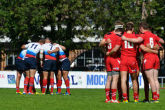 Match for place 5 Russia vs Wales in Rugby 7 Grand Prix Series in Moscow Royalty Free Stock Images