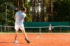 Match point. Royalty Free Stock Photo
