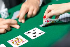 Match between poker players Royalty Free Stock Image