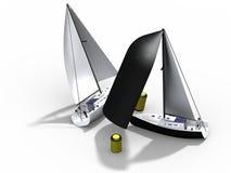 Match Race Sailing Stock Images
