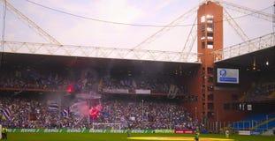 Before the match Sampdoria - Inter. Before a football match between Sampdoria Genoa vs. FC Inter Milan, Genoa, Italy Royalty Free Stock Images