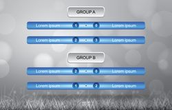 Match schedule background for soccer football cup with grass field background. Match schedule background for soccer football cup with grass field background in Stock Image