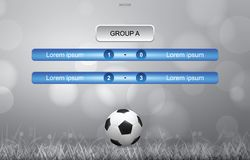 Match schedule background for soccer football cup with soccer ball on grass. Match schedule background for soccer football cup with soccer ball and grass field Royalty Free Stock Images