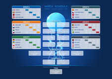 Match schedule, Euro 2016 template Stock Image
