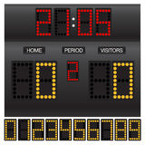 Match score board with timer Royalty Free Stock Photography
