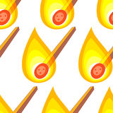 Match seamless pattern. Seamless pattern of the burning matches Royalty Free Stock Photography