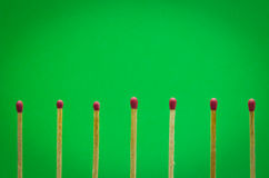 Match setting on green background for ideas and inspiration Stock Photo