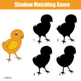 Match the shadow children game, kids activity