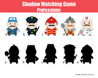 Match the shadow children game Royalty Free Stock Photography