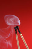 Match with smoke Stock Photos