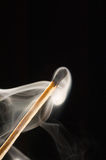A match smoking Royalty Free Stock Images