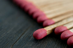 Match standing out from matches leadership concept, Individualit. Y concept Stock Image