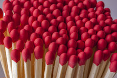 Match stick heads with red tips Stock Image