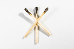Match Stick Macro Detail Fire Symbol Safety White Isolated Backg Stock Photos