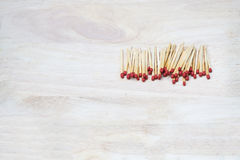 Match stick placed on wood Stock Photography