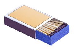 Match Sticks in a Box Stock Photos