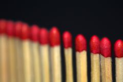 Match sticks in a row Royalty Free Stock Photos