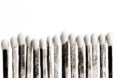 Match Sticks. Match Stick extreme Closeup isolated on white  background Stock Photography