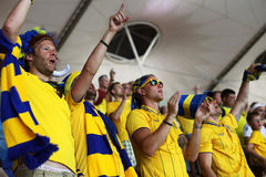 Match Sweden-France Royalty Free Stock Image