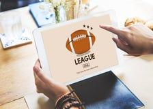 Match Team Concept för fält för ligamästarekonkurrens Royaltyfri Bild