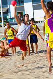 Match of the 19th league of beach handball, Cadiz Stock Photography