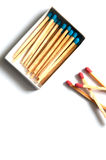 Match top view Stock Photography
