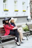 Match of two contrast hats and styles Royalty Free Stock Image