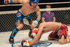 Match two MMA fighters Royalty Free Stock Photography