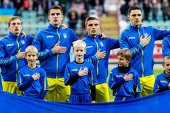 Match Ukraina - Nederländerna för europé Under-21 Chamionship Royaltyfri Foto