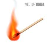 Match. Vector burning match sticks on white background. Vector illustration Stock Illustration