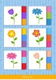 Match vid färg, vektor stock illustrationer