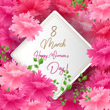 8 Match Women Day Greeting card Stock Images