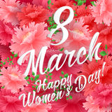 8 Match Women Day Greeting card Royalty Free Stock Image