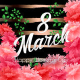 8 Match Women Day Greeting card Royalty Free Stock Photo