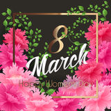 8 Match Women Day Greeting card Royalty Free Stock Photography