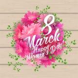 8 Match Women Day Greeting card Stock Photo