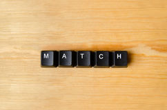 Match word Royalty Free Stock Image