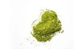Matcha心脏绿茶 免版税库存照片