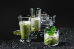 Matcha заморозило latte Стоковые Изображения RF