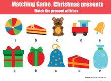 Matcha barn bildande lek, match vid form som bakgrund är kan det använda julillustrationtemat stock illustrationer