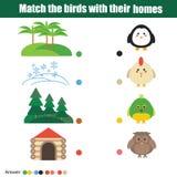 Matcha barnutbildningsleken royaltyfri illustrationer