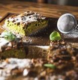 Matcha cake Fotografering för Bildbyråer