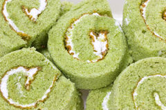 Matcha Cake Rolls. Stock Image